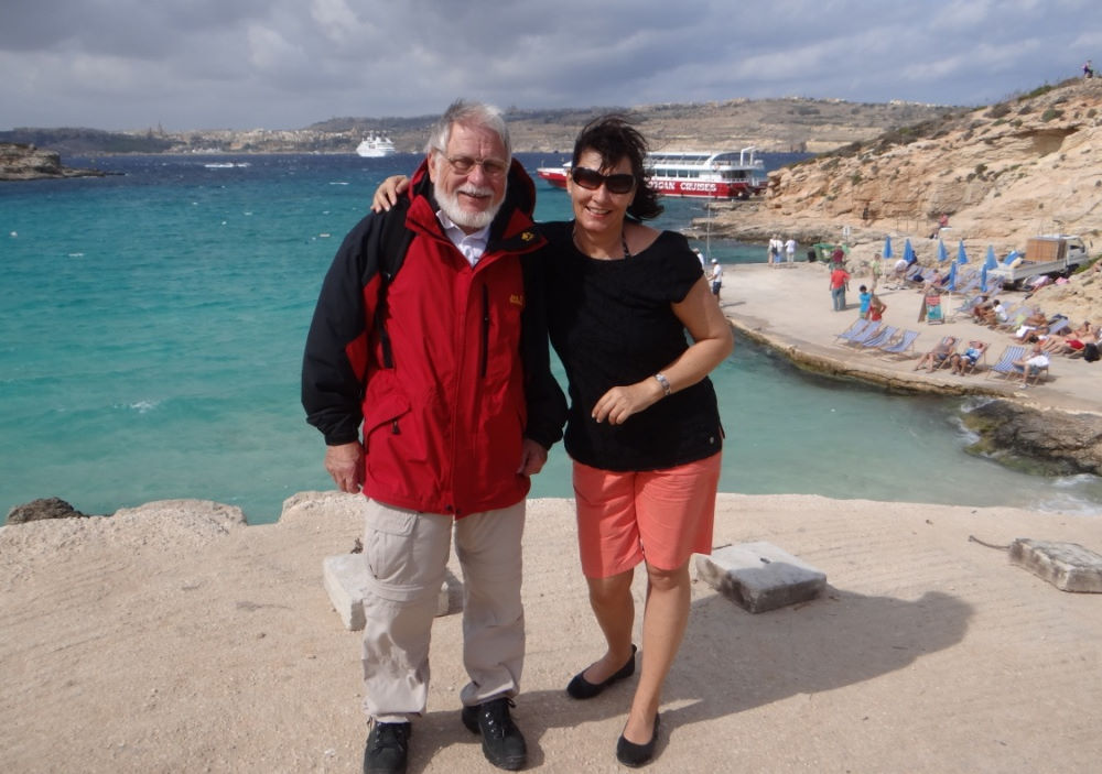 Andrea mit Reisegast